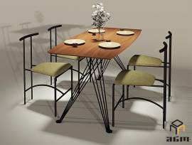 Furniture, Interior, Table, kitchen table