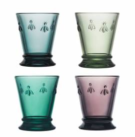 La Rochere, SET OF 4 GOB ABEILLE 4 COULEURS